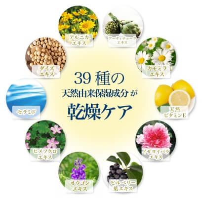 シズカゲル・39種類の保湿ケア成分