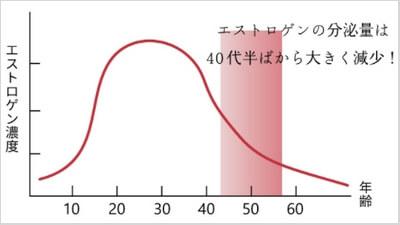 キレイデエクオール・エストロゲン量の変化